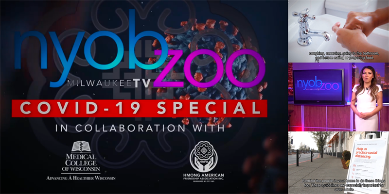 Picture of Nyob Zoo Milwaukee TV COVID19 Special Program