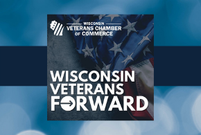 Graphic of Wisconsin Veterans Forward Podcast